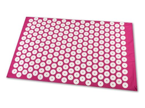 Tapis d'acupression (65 x 41 cm, rose)
